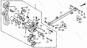 Honda Motorcycle 1985 Oem Parts Diagram For Rear Brake