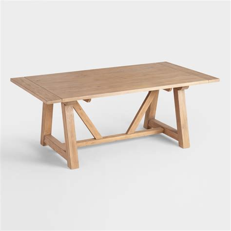 Small Wood Dining Table by Wood Leona Farmhouse Dining Table