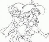 Musketeers Popular Coloring sketch template