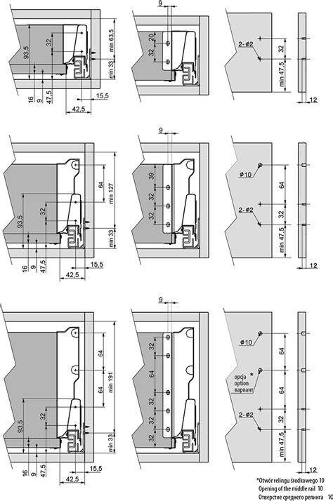 kitchen furniture handles drawer sytems modern box