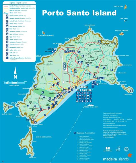 Porto Santo Portugal by Porto Santo Island Map
