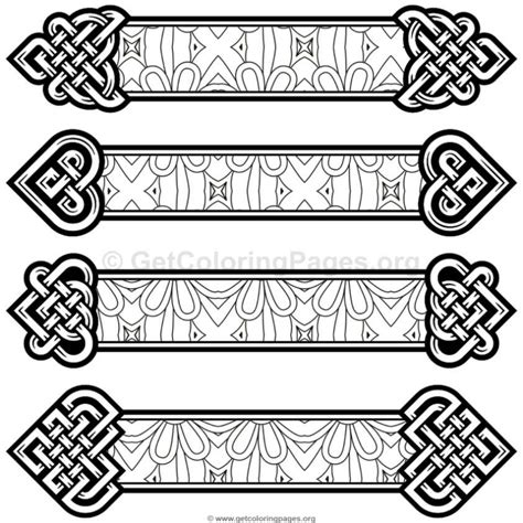celtic knot bookmarks coloring pages  getcoloringpagesorg