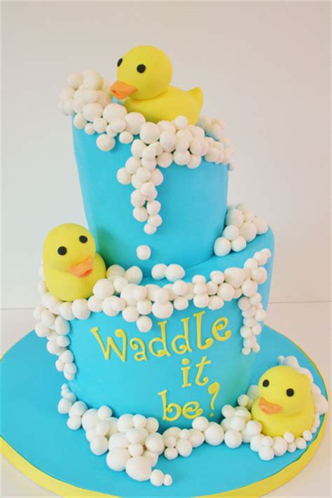 baby shower cake  jersey rubber ducky custom cakes