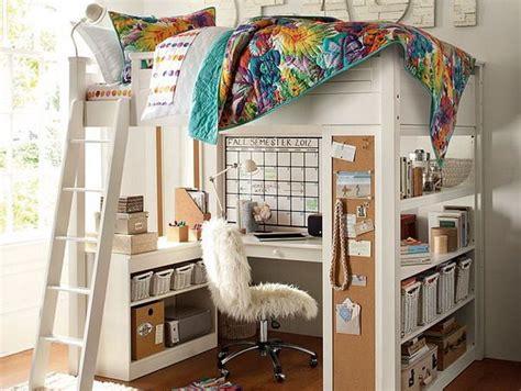 girls bedroom ideas  loft bed  study desk