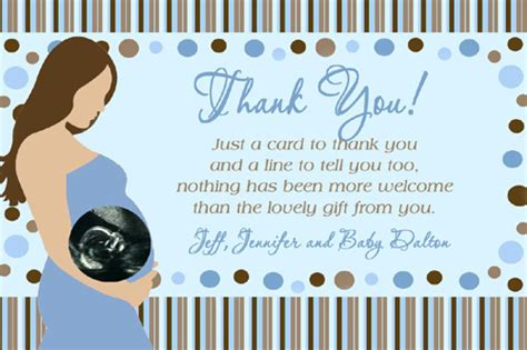 How To Create Baby Shower Thank You Card Wording Templates