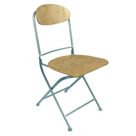 chaise bois et metal lot de 2 chaises pliantes métal et bois knave par drawer fr