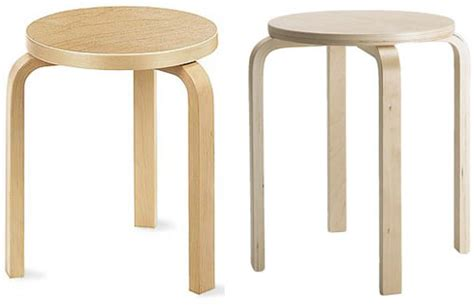 aalto ikea stool comparison side by side there is no