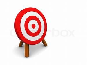 3d illustration of darts or archery target, over white ...