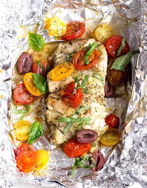 accents urban recipes recipe grouper foil seafood basil tomato packet