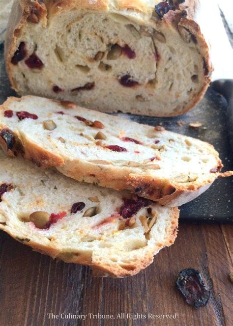thyme orange cranberry pumpkin seed artisan bread artisan bread recipes artisan bread yeast