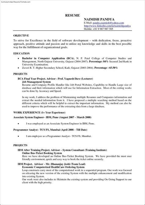 Docs Resume Template by Docs Resume Template Free Sles Exles Format