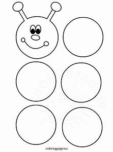 printable caterpillar template coloring page With caterpillar outline template