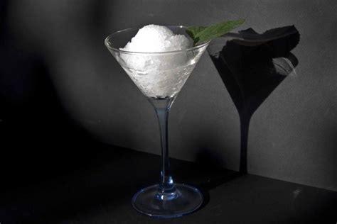 ouzo granita  gin  tonic sorbet  cool greek