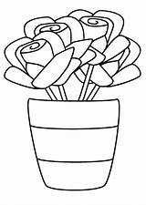 Coloring Pages Pot Print Coloringtop sketch template