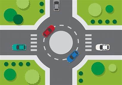 Roundabout Vector Road Clipart Illustration Vecteezy Background