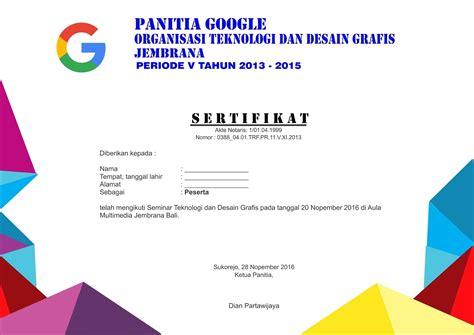 Download Contoh Desain Sertifikat Seminar Rochwhitheaka