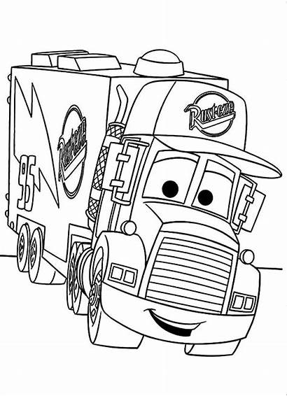 Coloring Truck Pages Mack Fire Transporter Lego