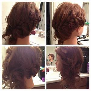 Prom hair-side braid with curls on side | Homecoming ...