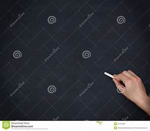 hand holding chalk on white background - stock photo ...