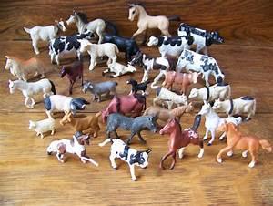 Vintage Toy Plastic Small Plastic Farm Animals set of 31