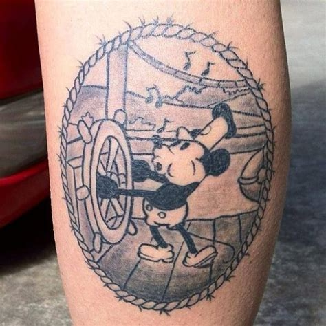 Steamboat Willie Tattoo by 35 Totally Magical Disney Tattoos Neatorama