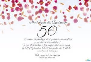 50 ans de mariage texte texte invitation 50 ans de mariage noces d or votre heureux photo de mariage