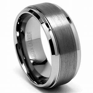 32k diamond platinum wedding ring 9mm high polish With heavy duty mens wedding rings