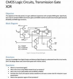 Solved  Cmos Logic Circuits  Transmission Gate Xor Objecti