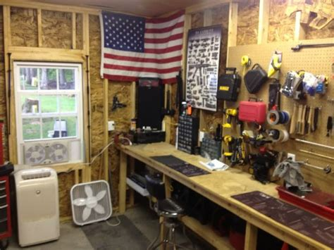 man cave workshop complete  gun workshop  storage
