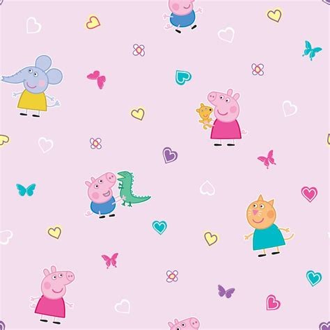 peppa pig wallpaper pink diy bm