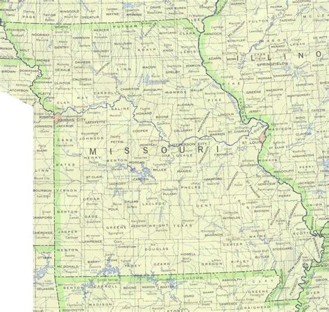 missouri maps perry castaneda map collection ut