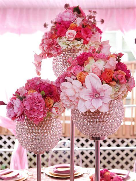 Wedding Flower Centerpieces Using Pink Wedding Flowers