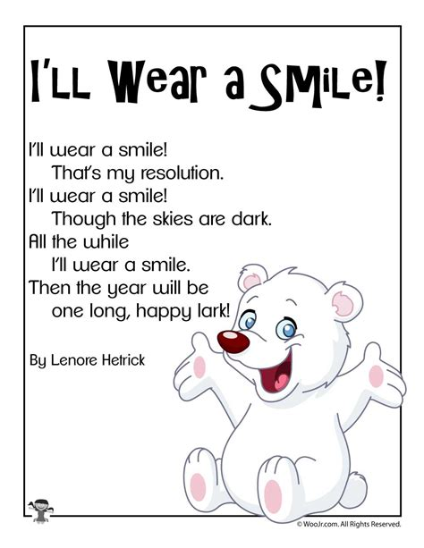 ill wear  smile short  years poem woo jr kids
