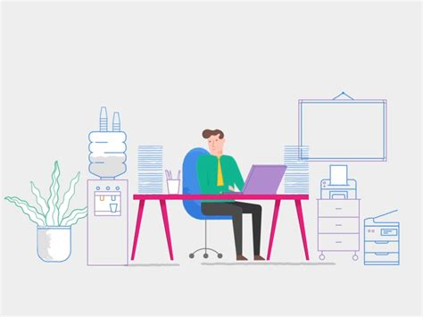 Office Space Virus by Office Illustration Refs In 2019 Vector Animation