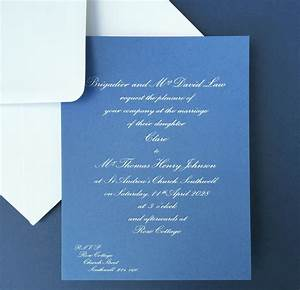 cobalt wedding invitations wedding stationery With cobalt blue wedding invitations uk