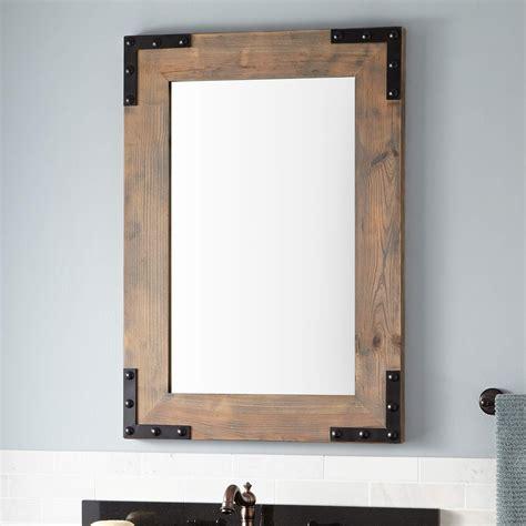 decorative wall shelf ideas bonner reclaimed wood vanity mirror gray wash pine