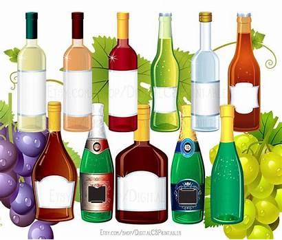 Clipart Drink Alcohol Wine Bottle Clip Party
