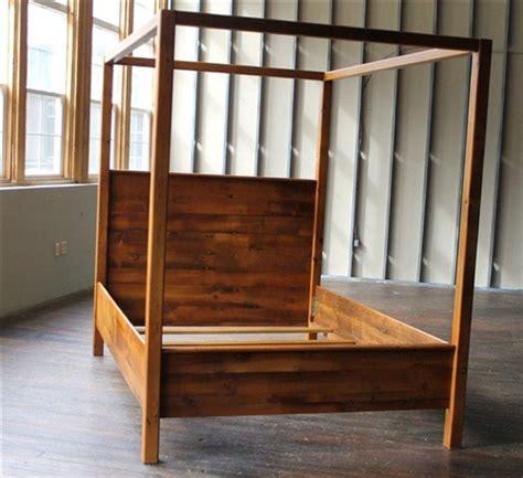 rustic farmhouse canopy bed ecustomfinishes