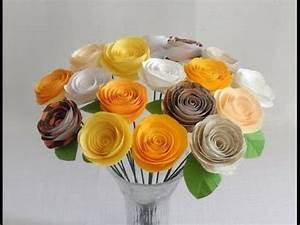 Rosen Aus Servietten Basteln : rosen basteln aus papier rosen aus papier falten papier rose falten youtube ~ Frokenaadalensverden.com Haus und Dekorationen
