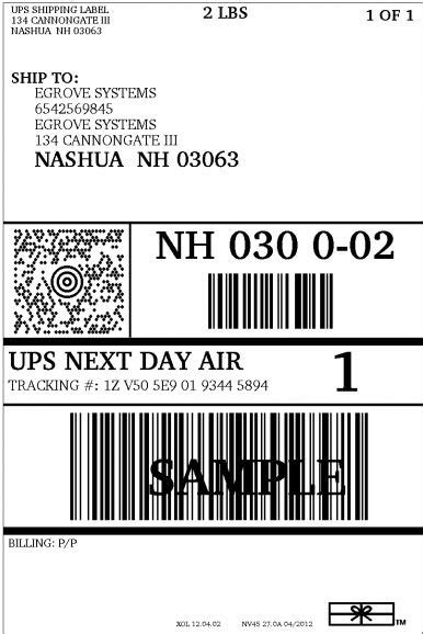 ups shipping label template ups label template printable label templates