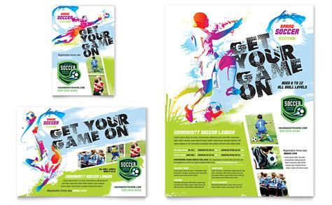 Sports C Brochure Template by Youth Soccer Flyer Ad Template Word Publisher