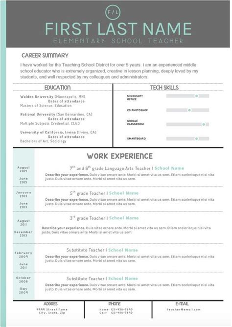 Make Resume Template by Mint And Gray Cover Letter And Resume Templates Make Your