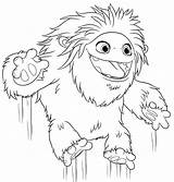 Abominable Yeti Coloring Pages Printable Everest Jumping Print раскраски из все категории sketch template