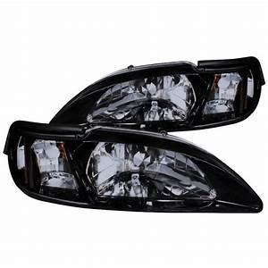 Spec-D Tuning 1994-1998 Ford Mustang Headlight + Corner Lights Lamps 1994 1995 1996 1997 1998 ...
