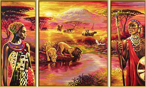 schipper  afrika  kilimandscharo triptychon