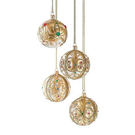 jeweled ball christmas ornaments gump s