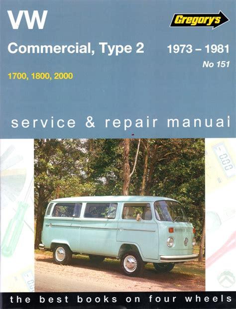 auto repair manual online 1988 volkswagen type 2 seat position control volkswagen vw commercial type 2 series 1973 1981 sagin workshop car manuals repair books