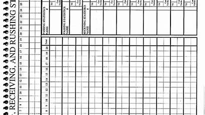 Score Golf Stat Football Sheets Forms Offense