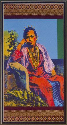seated malay girl
