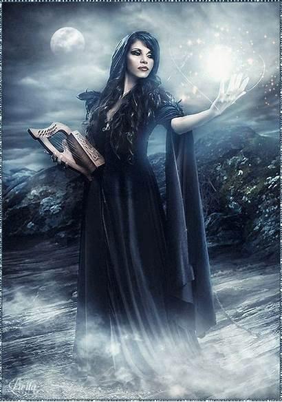 Fantasy Sorceress Magic Dark Gifs Witch Google